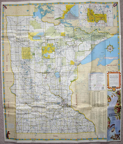 1949 Official Road Map of Minnesota