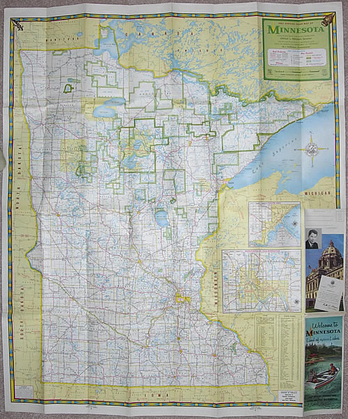 1957 Official Road Map of Minnesota