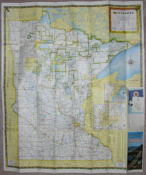 1960 Official Road Map, Minnesota