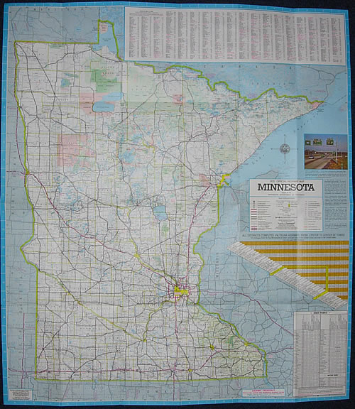 1975 Official Highway Map Minnesota